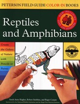 Peterson Field Guide Color-In Books, Reptiles and Amphibians