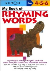 Kumon My Book of Rhyming Words, Ages 4-6