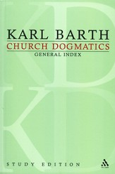 Church Dogmatics Study Edition General Index