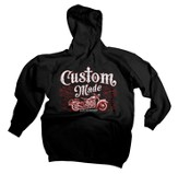 Custom Made Hooded Sweatshirt, Black, XX-Large (50-52)