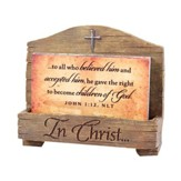 In Christ, John 1:12, Scripture Card Holder