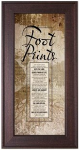 Footprints Framed Art