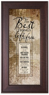 The Best Things In Life Framed Art