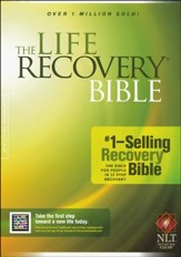NLT Life Recovery Bible, Softcover  - Slightly Imperfect