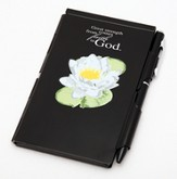 Great Strength Comes From Faith In God, Water Lily, Note Case, Black