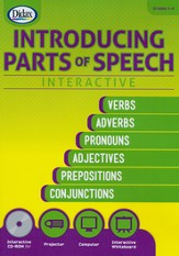 Introducing Parts of Speech Interactive CD-Rom, Grades 2-4