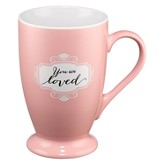 You Are Loved Mug, Pink