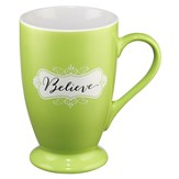 Believe Mug, Green