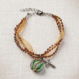 Living Water Cross Bracelet, Gold