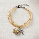 Living Water Cross Bracelet, Yellow