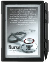 Nurse A Caring Heart Photo Note Pad with Pen