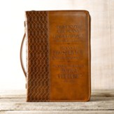 For I Know the Plans, Bible Cover, Brown, Large