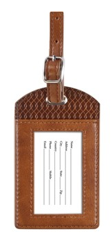 For I Know the Plans, Luggage Tag, Brown, Large