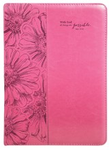 With God, All Things Are Possible Folder, Pink