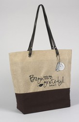 Begin Each Day With A Grateful Heart Handbag