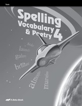 Spelling, Vocabulary, & Poetry 4 Student Test Book
