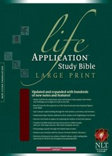 NLT Life Application Study Bible, Large Print Burgundy  Bonded Leather, Thumb-Indexed