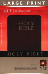 NLT Personal Size Bible - Large Print hardcover