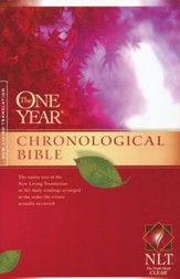 The NLT One Year Chronological Bible - softcover