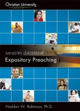 ML513: Expository Preaching - A Christian University GlobalNet Course