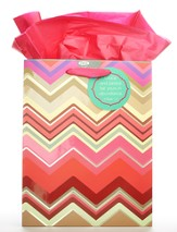 Grace and Peace, Chevron Medium Gift Bag