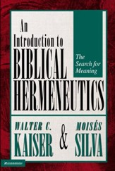 Introduction to Biblical Hermeneutics: The Search for Meaning / Revised - eBook
