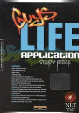 NLT Guys Life Application Study Bible - leatherlike onyx
