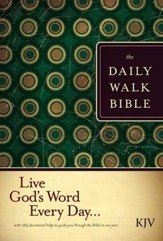 The Daily Walk Bible KJV, Hardcover