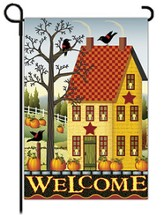 Welcome Salt Box House Flag, Small