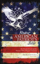 NKJV Young American Patriot's Bible: The Word of God and the Heroes That Shaped America - Slightly Imperfect