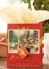 God Bless Your Heart and Home, Thomas Kinkade Gift Bag, Medium