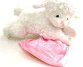 Personalized, Lamb Prayer Blankie, Pink
