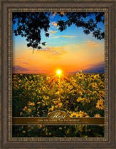 Hope, I Am the Light Of the World, Framed Art
