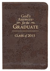NKJV God's Answers for the Graduate: Class of 2013, Brown