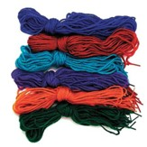 Tipped Yarn Laces, 6 sets of 12 laces