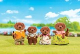 Calico Critters Chocolate Labrador Family