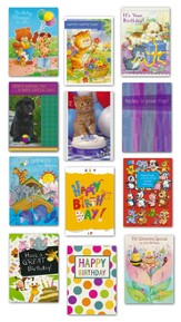 Children's Birthday Cards, Value Box, 24 Count