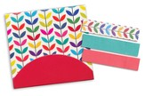 Sticky Note Flags-Colorful Leaves-3 x 2.75