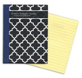 Sticky Note Tablet-Quatrefoil-200 lined sticky sheets 3 x 4.125