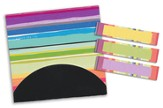 Sticky Note Flags-Vibrant Stripe-3 x 2.75