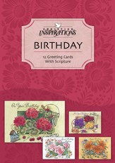 Glory and Praise Birthday Cards, Box of 12