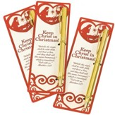 Keep Christ in Christmas Bookmark and Pen Set, Pack of 12