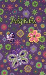 NKJV Sequin Bible, purple  - Slightly Imperfect