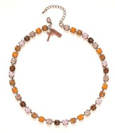 Rhinestone Choker Necklace, Amber