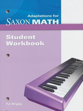 Saxon Math Intermediate 4 Adaptions Student Workbook