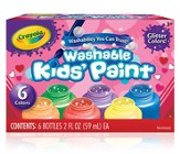 Washable Glitter Paint, Valentine's Day, 6 Piece