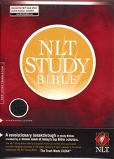 NLT Study Bible, Bonded Leather--Black