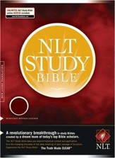NLT Study Bible, Bonded Leather--Burgundy - Imperfectly Imprinted Bibles