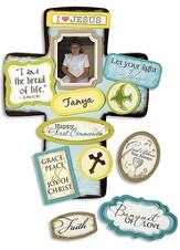I am the Bread of Life First Communion Cross with Magnet Set