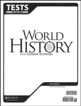 BJU World History Grade 10 Tests, Third Edition